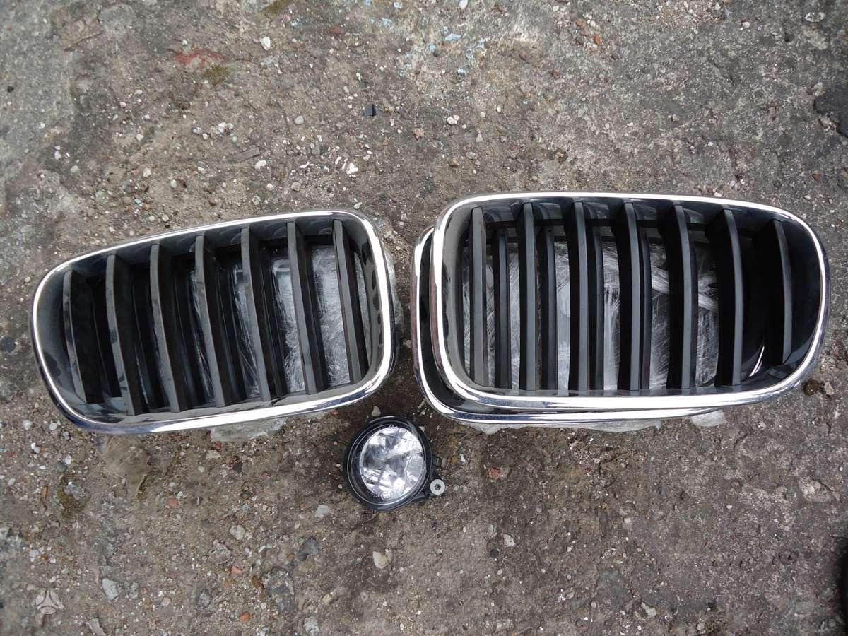 BMW X3. Grotelės, halogenas