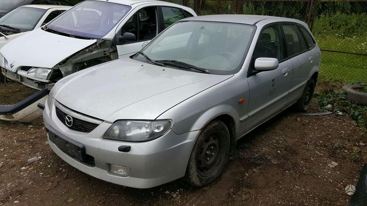 Mazda 323F dalimis. Prekyba originaliomis naudotomis detalėmis.