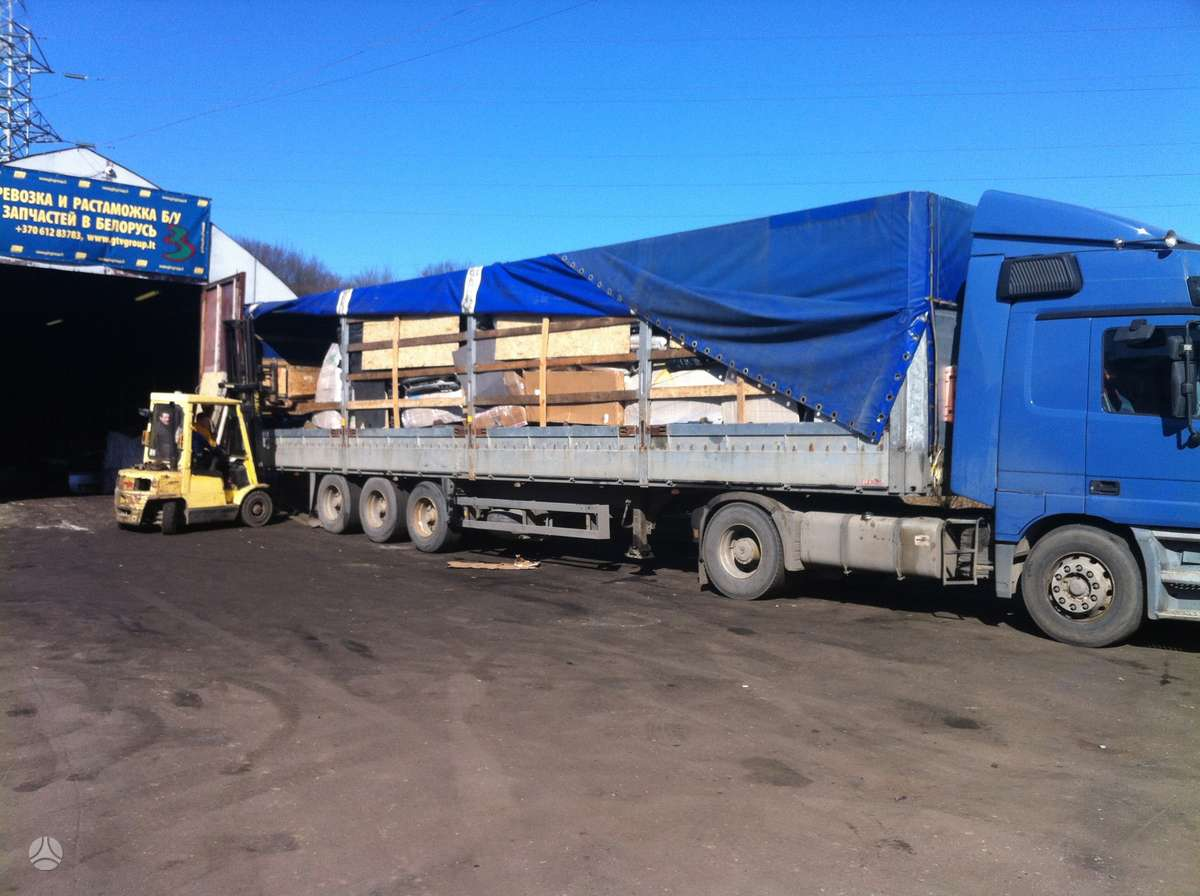 Naudotų automobilių dalių pervežimas į Rusija, Baltarusija nuo 1kg iki 24 tonų.