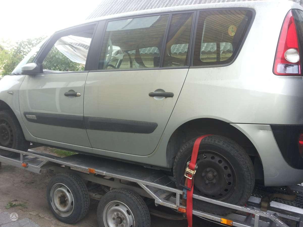 Renault Espace. Nėra variklio ir dėžes automobilis iš anglijos.