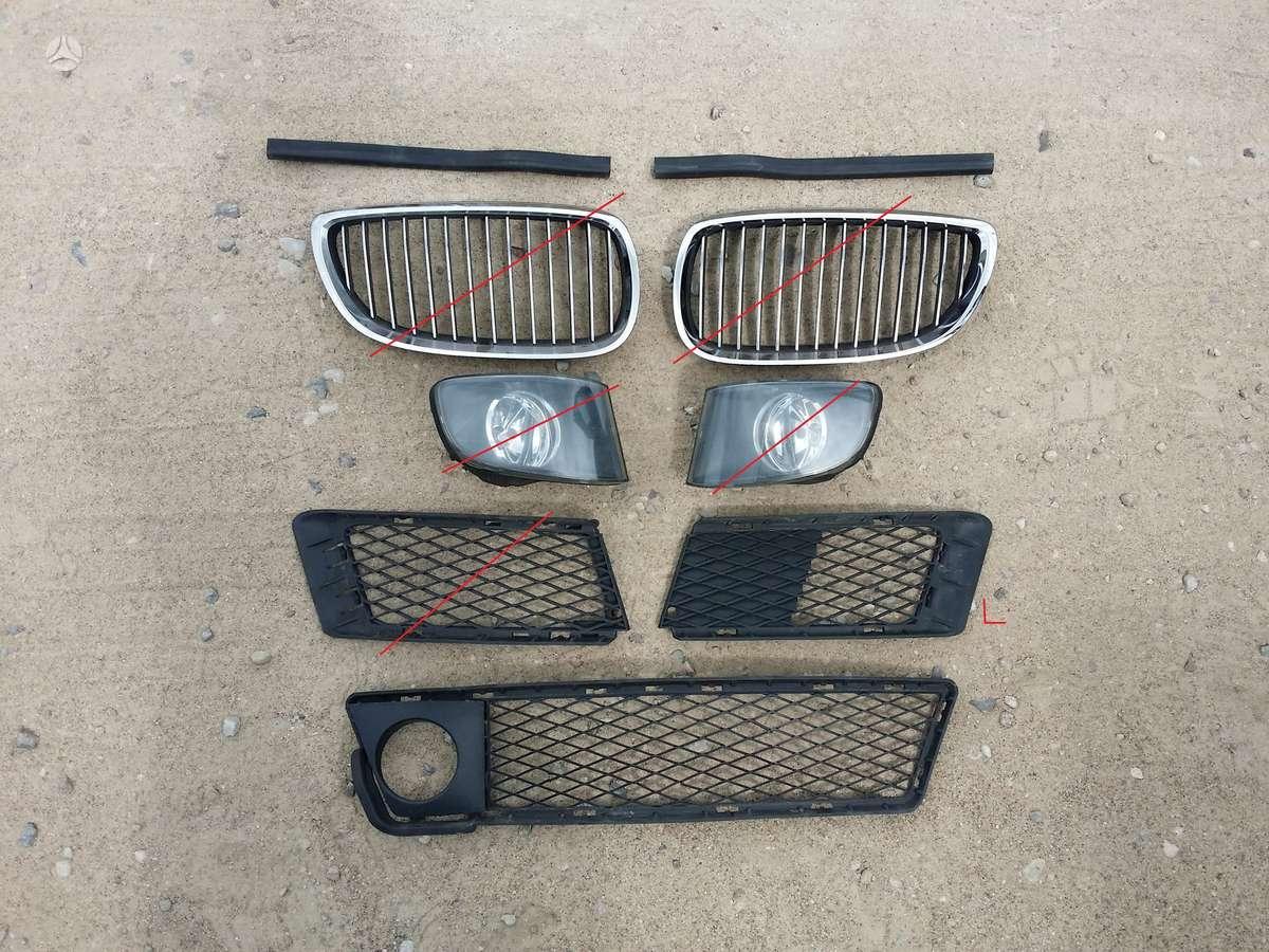 BMW 3 serija bamperiai, žibintai, apdailos grotelės