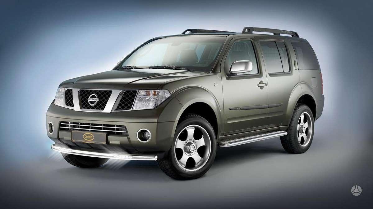 Nissan Pathfinder. Nissan pathfinder priekinio buferio grotelės.