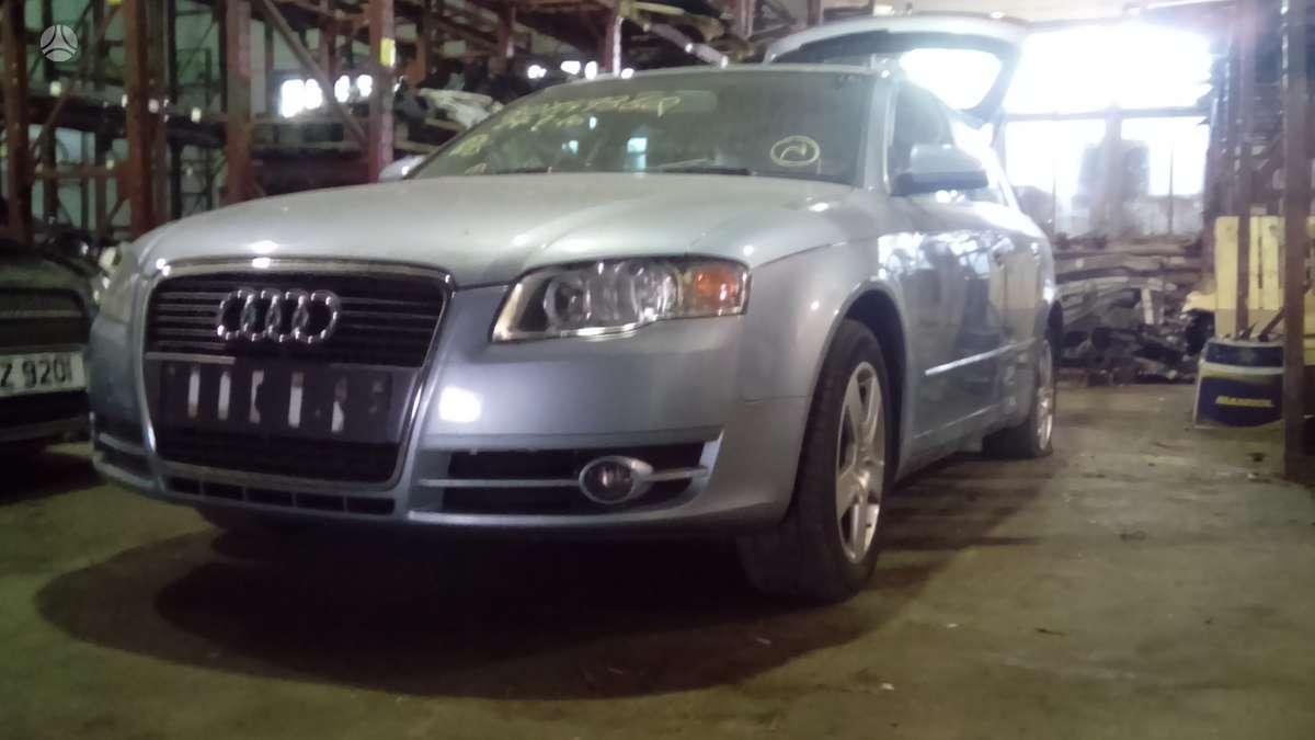 Audi A4 dalimis. Kuriasi, važiuoja, variklio kodas blb.