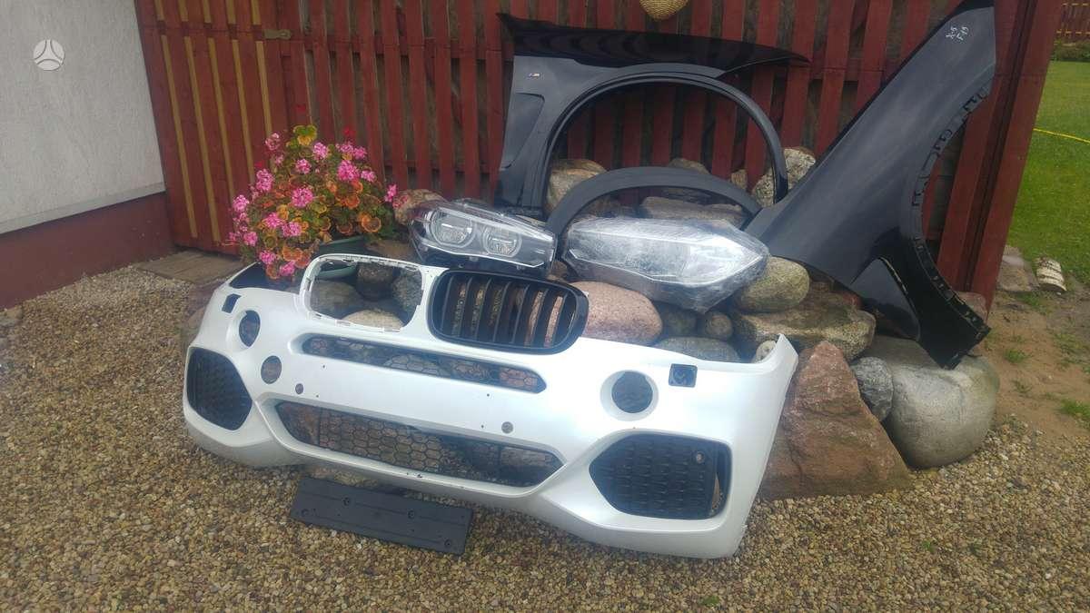 BMW X5. Priekinis bamperis m, paprastas, grotelės, pr.bamp.