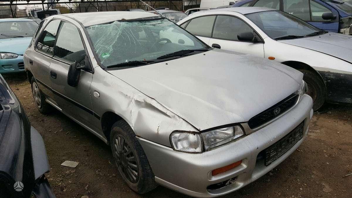 Subaru Impreza dalimis. Prekyba originaliomis naudotomis detalė