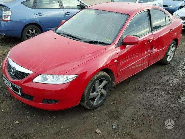 Mazda 6. Detalės sandėlyje  1. radiatoriaus grotelės    tik