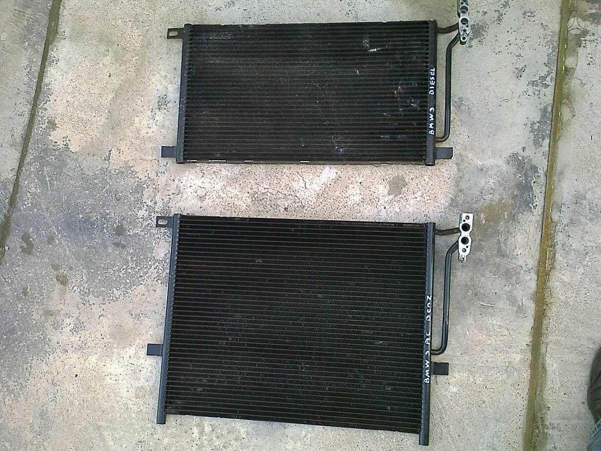 BMW 3 serija kondicionieriaus radiatorius, ventiliatorius, oro pagalvės