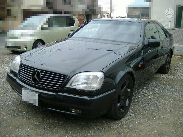Mercedes-Benz CL600. S600 coupe dalimis
