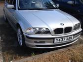 BMW 320. Masina dalimis, yra geras variklis ir yra variklis