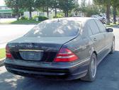 Mercedes-Benz S430 dalimis. Long, nemodifikuotas. salonas juod...