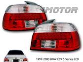 BMW 5 serija dalimis. Priekiniai tuning žibintai su angel eyes
