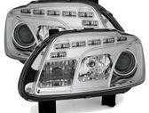 Volkswagen Touran dalimis. Priekiniai tuning žibintai su diodi...