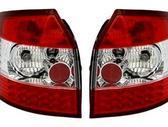 Audi A4 dalimis. Priekiniai tuning žibintai su led dienos švie...