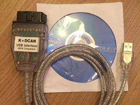 BMW diagnostikos laidas INPA k+dcan su jungikliu diagnostinis kabelis usb obd FTDI FT232RL BMW diagnostikos iranga
