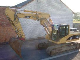 Cat Ekskavatoriaus nuoma, construction and road construction equipment rental