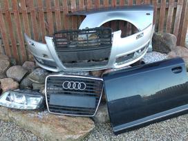 Audi A6. Priekiniai ir galiniai žibintai su