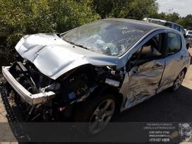 Peugeot 308 dalimis. Automobilis ardomas dalimis:  запасные част