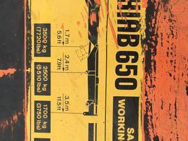 Hiab 650, gervės / kabliai