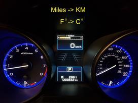 Subaru Outback. Navigacijos. radijos dažniai. skydeliai.