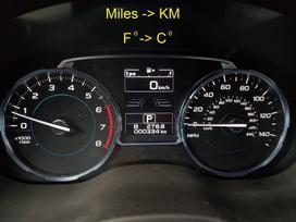 Subaru Forester. Navigacijos. radijos dažniai. skydeliai.
