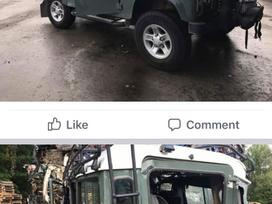 Land Rover Defender dalimis. Detalių