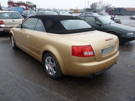 Audi Cabriolet dalimis. Turime daugiau