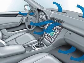 Automobilių salono šildymo ir vėdinimo