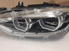Bmw 3 serija. Full led adaptyvinis kaires