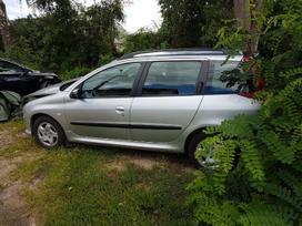 Peugeot 206 dalimis. Detales siunčiame ir į
