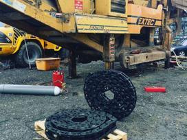 Ekskavatorių, buldozerių važiuoklės remontas