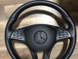 Mercedes-benz Gle klasė. Vairas su odiniu airbag