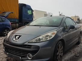 Peugeot 207 dalimis. Tvarkingas automobilis su maža rida stogas