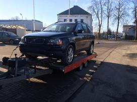Volvo XC90 dalimis. Kablys yra.juodas odinis salonas.