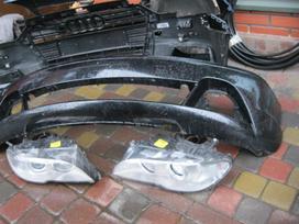 BMW 3 serija. -žibintai---pr. ir gal.   buferis . ---- airbegas,