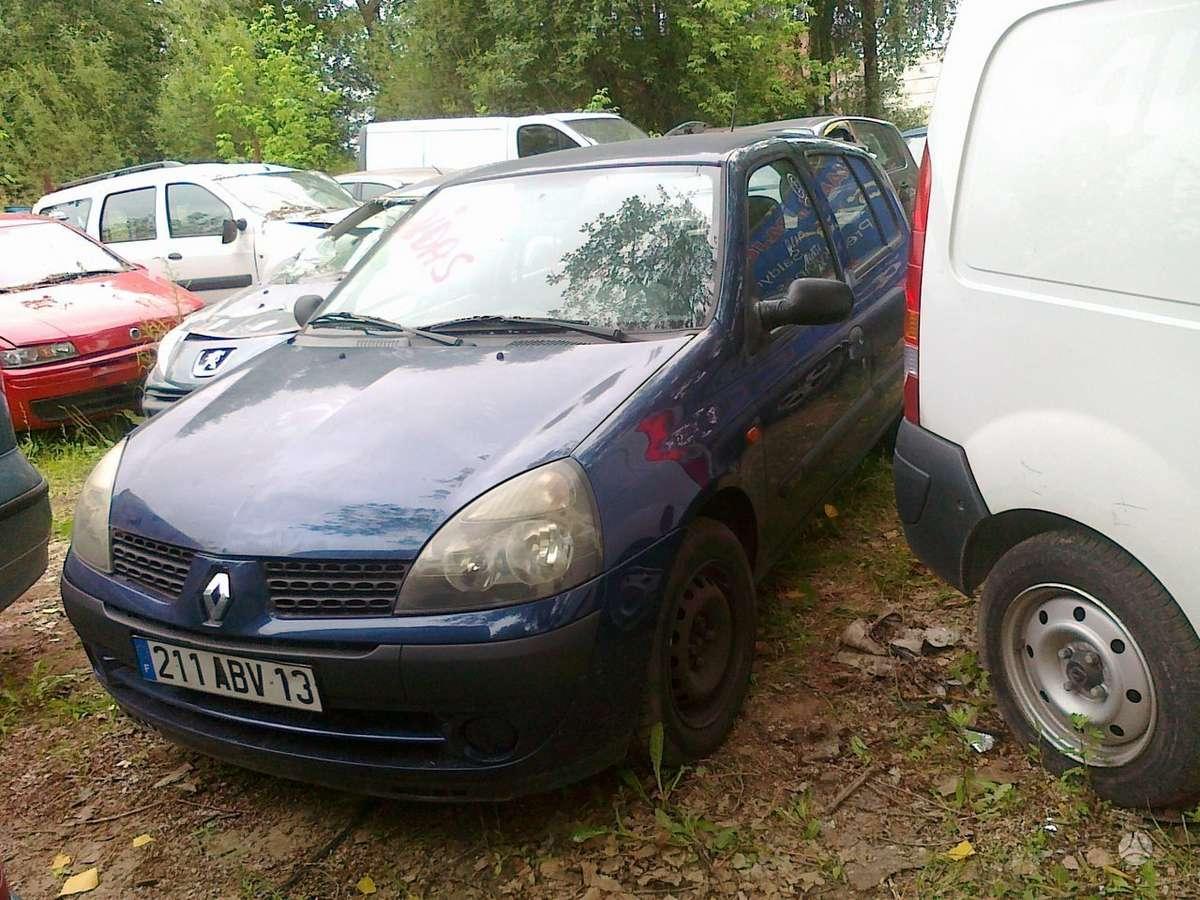 Renault Clio dalimis. Variklis 1.2  16 vožtuvų d4f 706 75 arklių