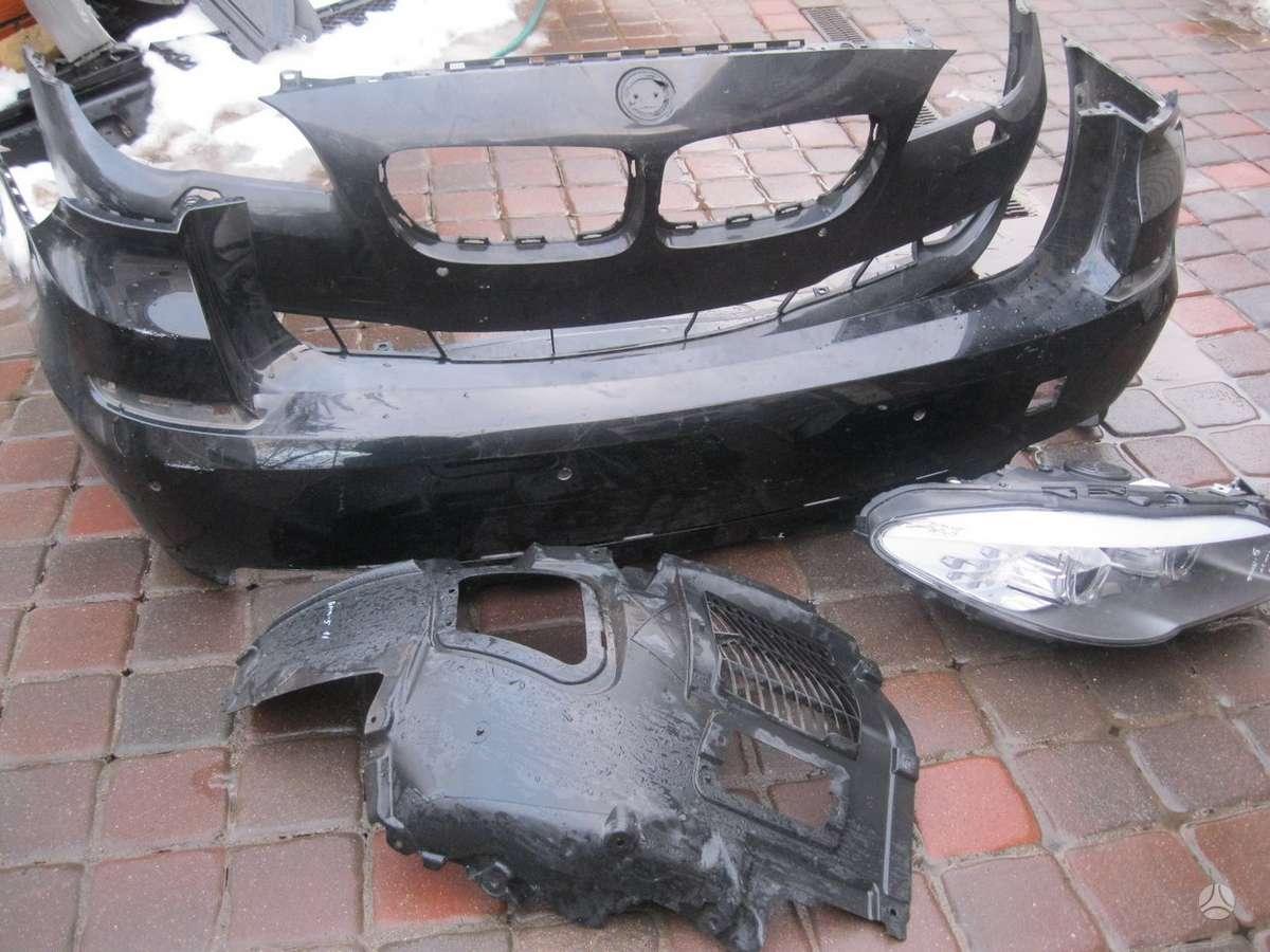 BMW 5 serija. --pr.ir galinis buferis---groteles-- interkuleris -