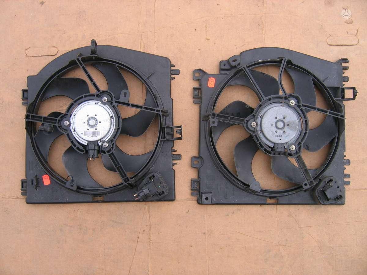 Nissan Micra kondicionieriaus radiatorius, vandens radiatorius, ventiliatorius