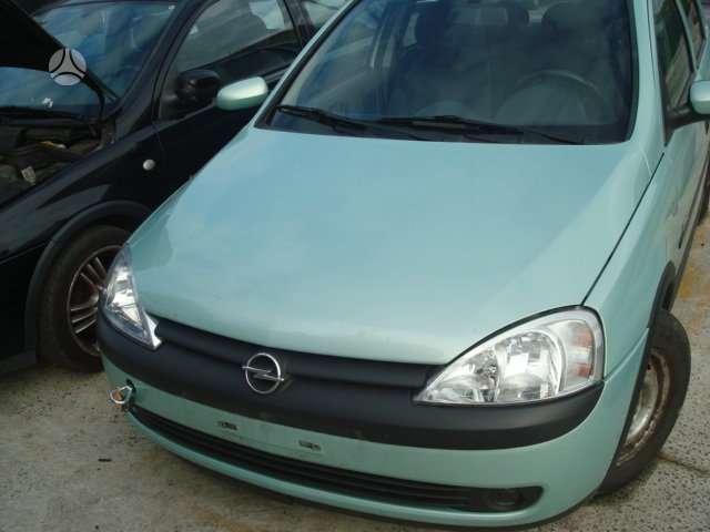 Opel Corsa. Europa iš vokietijos galimas detalių persiuntimas į