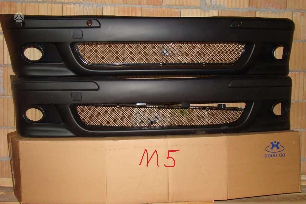 BMW 5 serija. M 5 bamperiai.priekiniai su pdc skylemis arba be