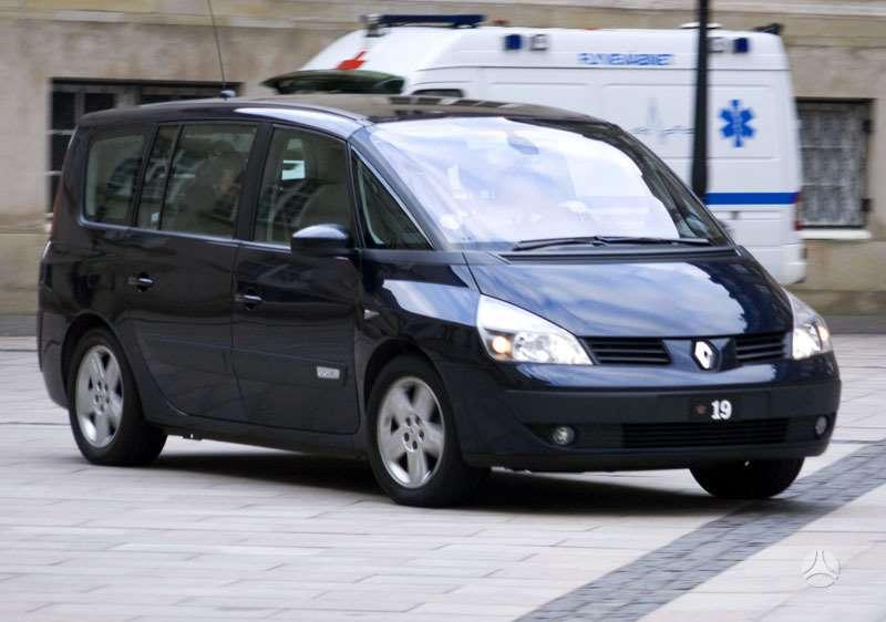 Renault Espace. Turim ir 1.9dci, ir 2.0dci ir 3.5i v6 varikliais