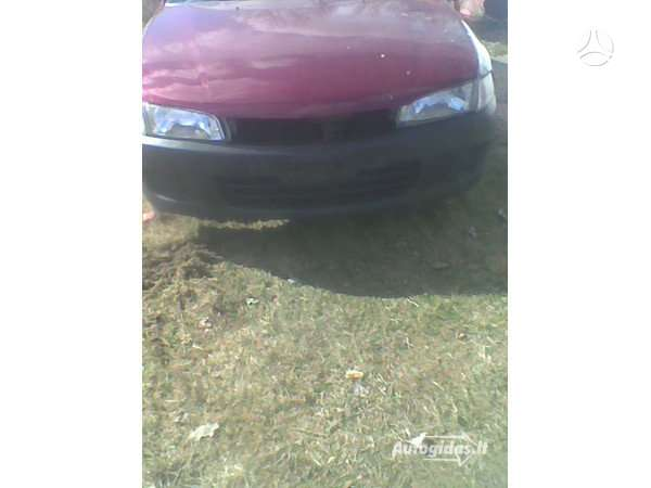 Mitsubishi Lancer. Automobilis po avarijos. pažeista vairuotojo