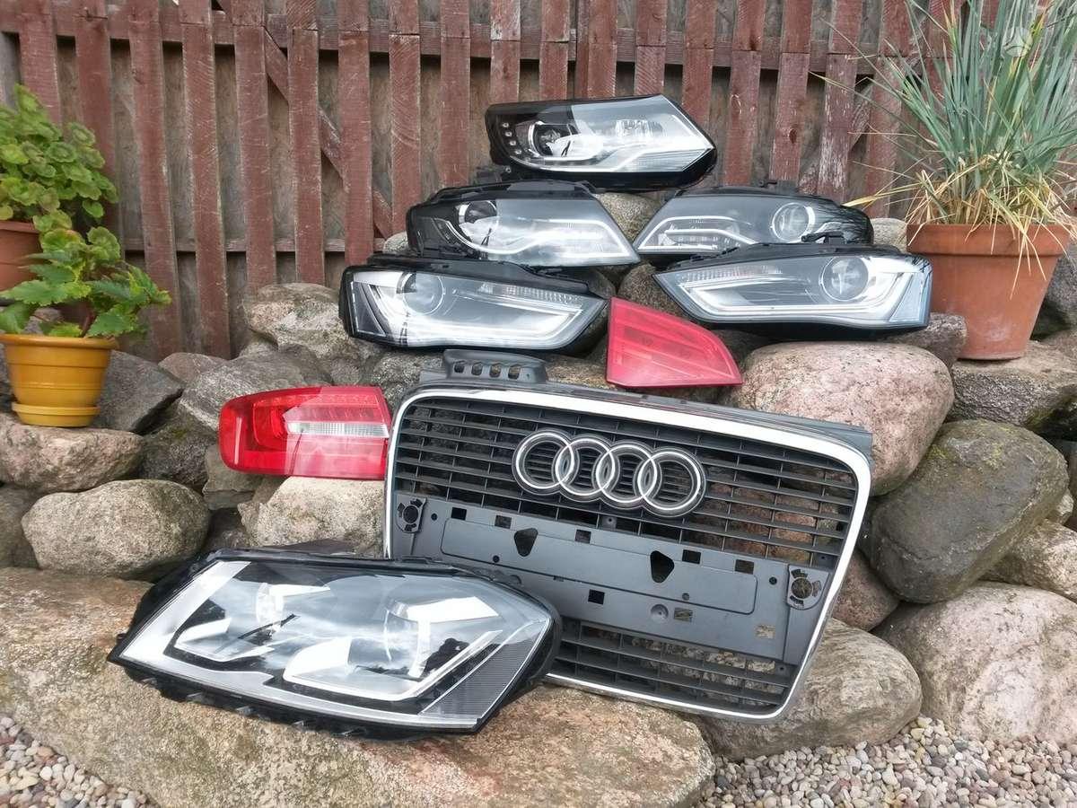 Audi A4. Priekinis gal.bamperiai,pr.bamperis s-line, sparnai,led