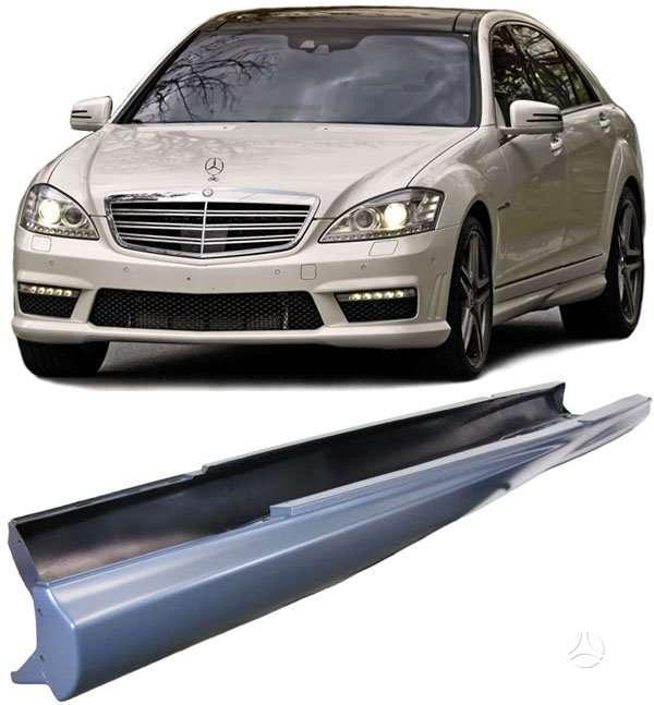 Mercedes-Benz S klasė. Amg slenksciai-trumpasis ,ilgasis-