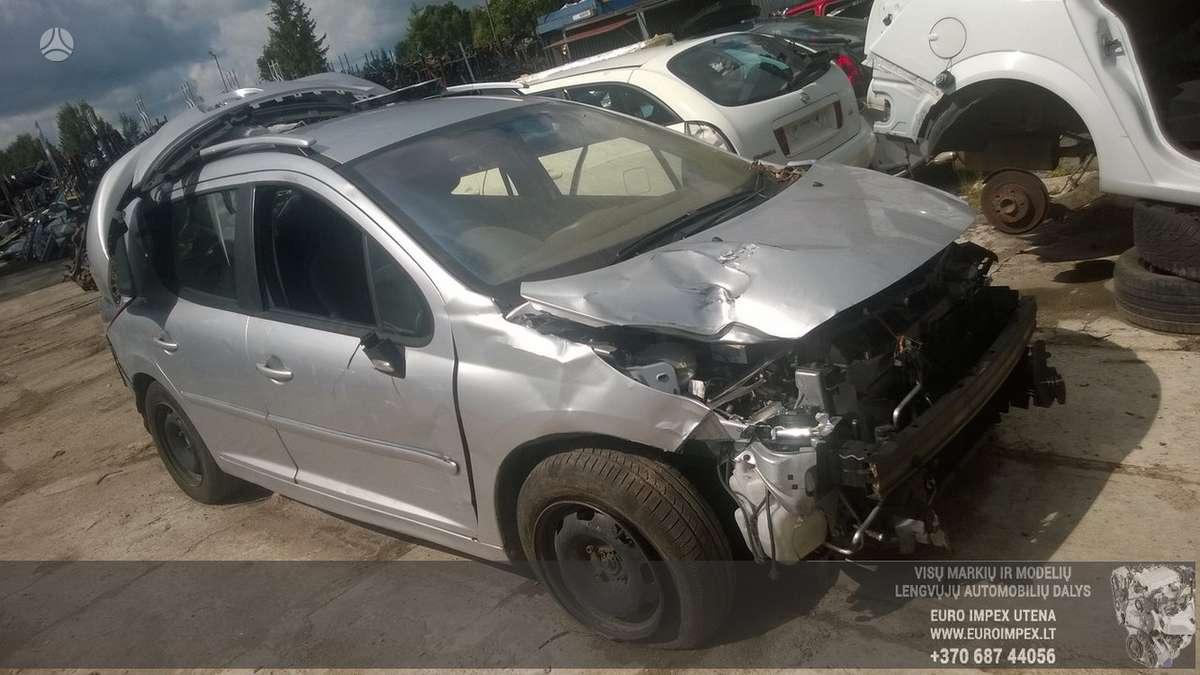 Peugeot 207 dalimis. Automobilis ardomas dalimis:  запасные част