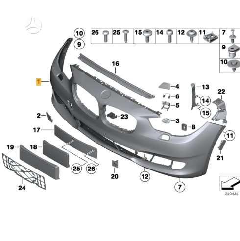 BMW 530 Gran Turismo. Naujų orginalių detalių užsakymas