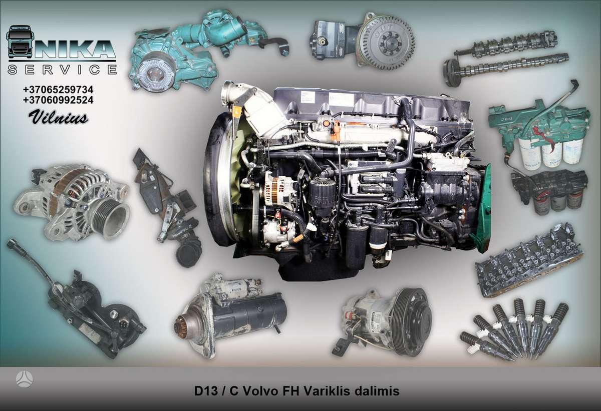 Volvo FH13 D13C Variklio dalys, vilkikai