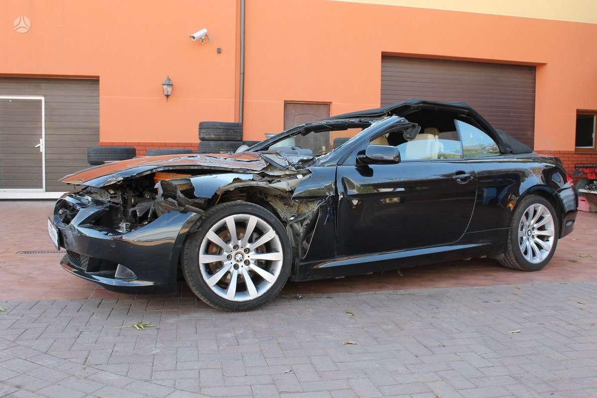 BMW 630 dalimis. Bmw 630i coupe 2006-2007m. bmw 630i cabrio