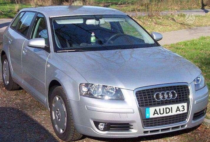 Audi A3 dalimis. Pigios kėbulo dalys, žibintai, radiatoriai.