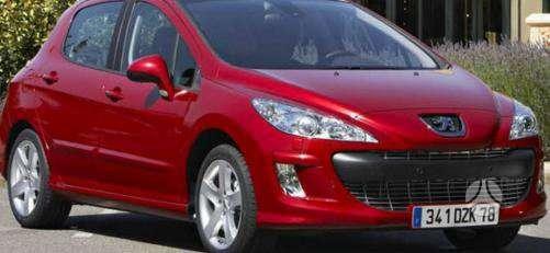 Peugeot 308 dalimis. Kėbulo dalys, žibintai, radiatoriai.