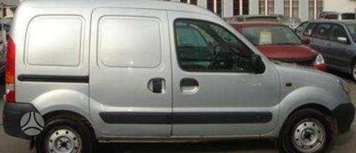 Renault Kangoo dalimis. Kėbulo dalis, žibintus, radiatorius.